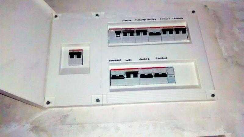 instalación eléctrica de un cuadro eléctrico en una vivienda